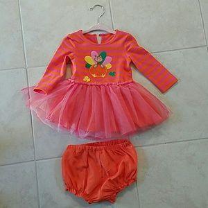 Fall Turkey Tutu dress with bloomers Costume